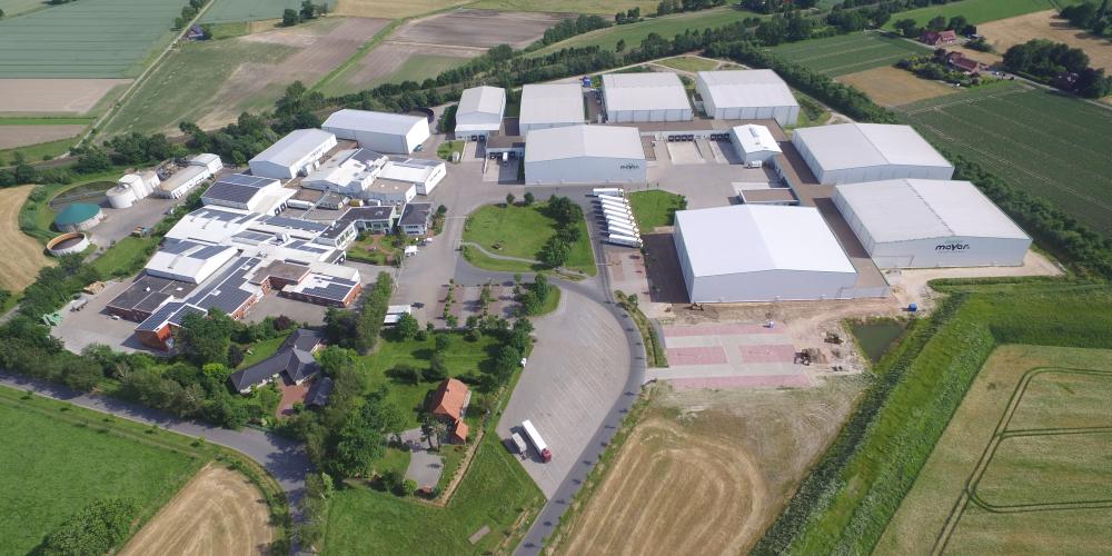 Der Hauptsitz der Meyer Gemüsebearbeitung GmbH in Twistringen. Hier ist seit rund drei Monaten das Zeitfenstermanagementsystem SLOT von Cargoclix im Einsatz. (Foto: Meyer Gemüsebearbeitung GmbH)